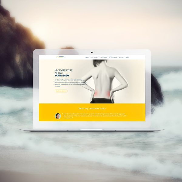 Osteopata Tarifa, Wordpress website, desktop view