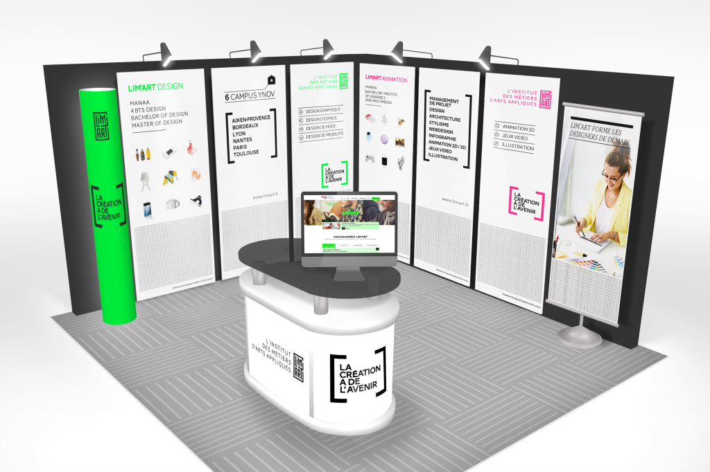 Limart, trade show booth